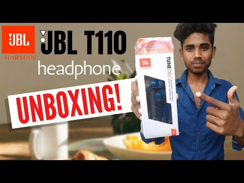 jbl t110 Earphones Unboxing & First Look || and Review