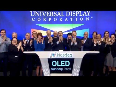 Universal Display's Nasdaq Opening Bell - 04-20-2016 - Celebrating 20 years on Nasdaq!