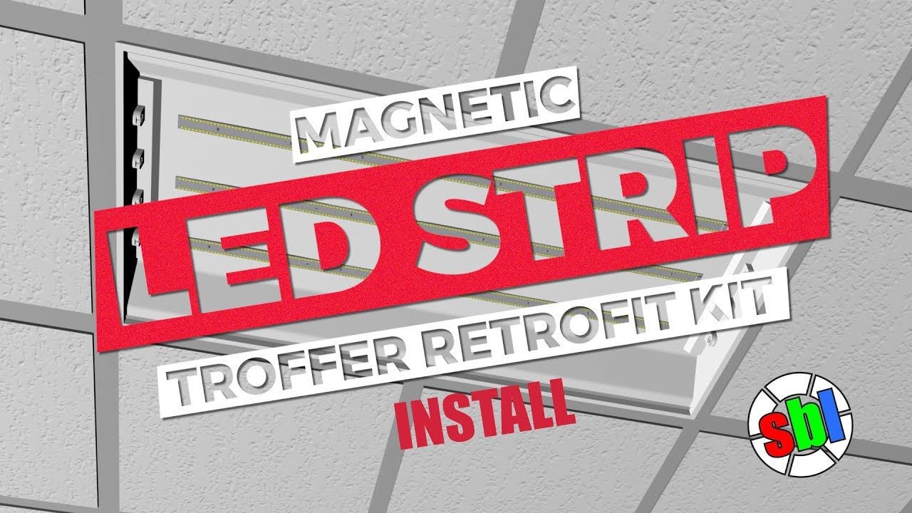 how to install led magnetic strip retrofit kit