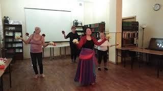 Танец с цветами. Библиотека. 4.10.2019