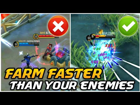 How to FARM FASTER than your ENEMY ? |  FARMING & GANKING Tips | Mobile Legends Bang Bang thumbnail