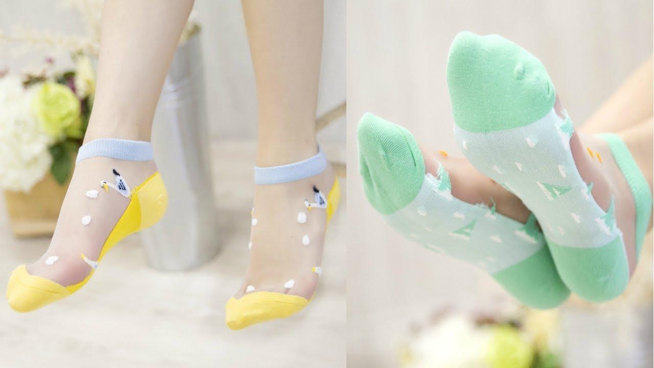 Женские легкие носочки в морском стиле!Носки женские купить в интернет магазине Алиэкспресс