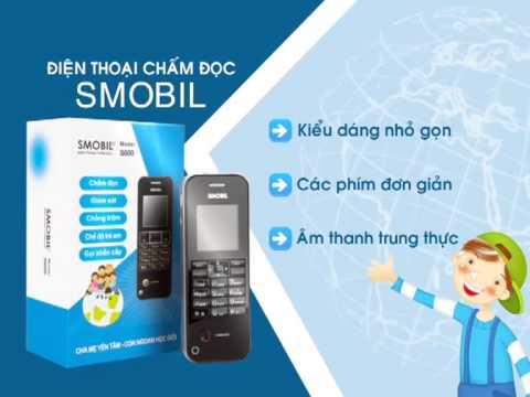 Điện thoại chấm đọc cho học sinh - Smobil S600 được phát trên Lotte Đất Việt