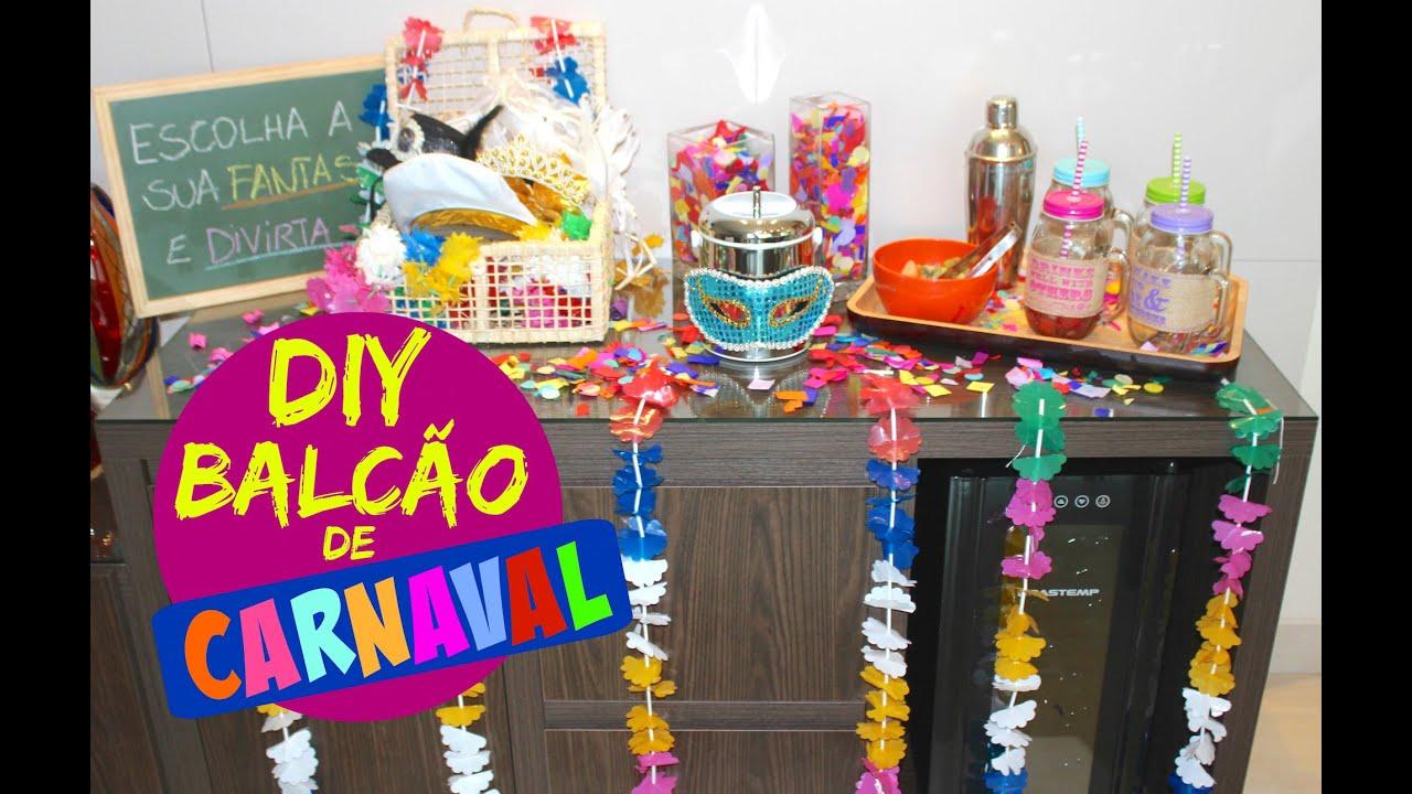 DECORA u00c7ÃO DE CARNAVAL E DRINK PARA O VERÃO YouTube -> Decoração De Loja Carnaval