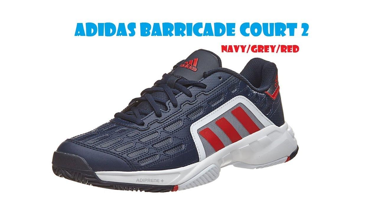 Adidas Barricade Court 2 Navy/Grey/Red Men's Shoe