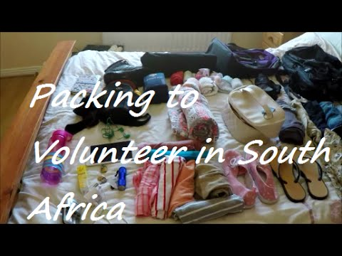 Packing For Volunteering in South Africa