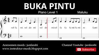 not balok buka pintu - piano level 1 - lagu daerah maluku - doremi / solmisasi