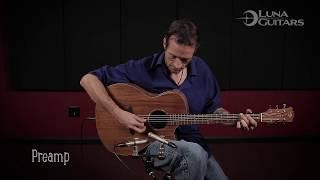 High Tide Koa Acoustic Guitar A/E by Luna Guitars