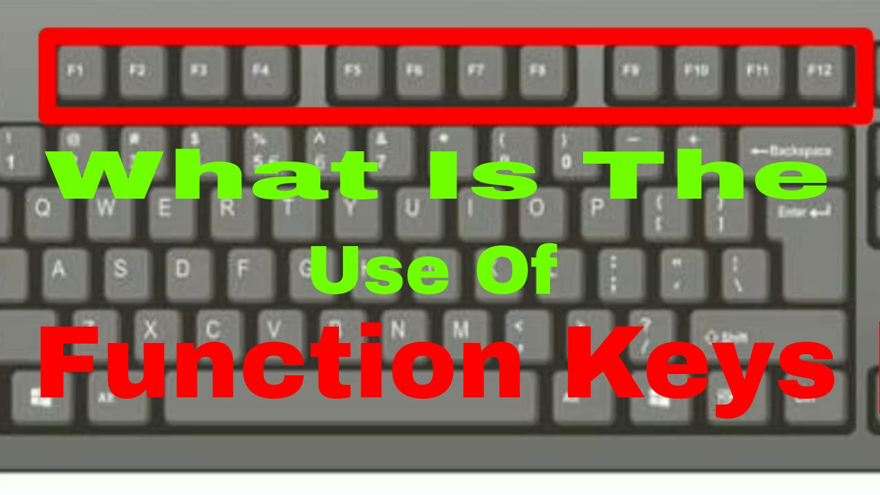 What Are The Use Of Function Keys In Keyboard Of Laptop ...