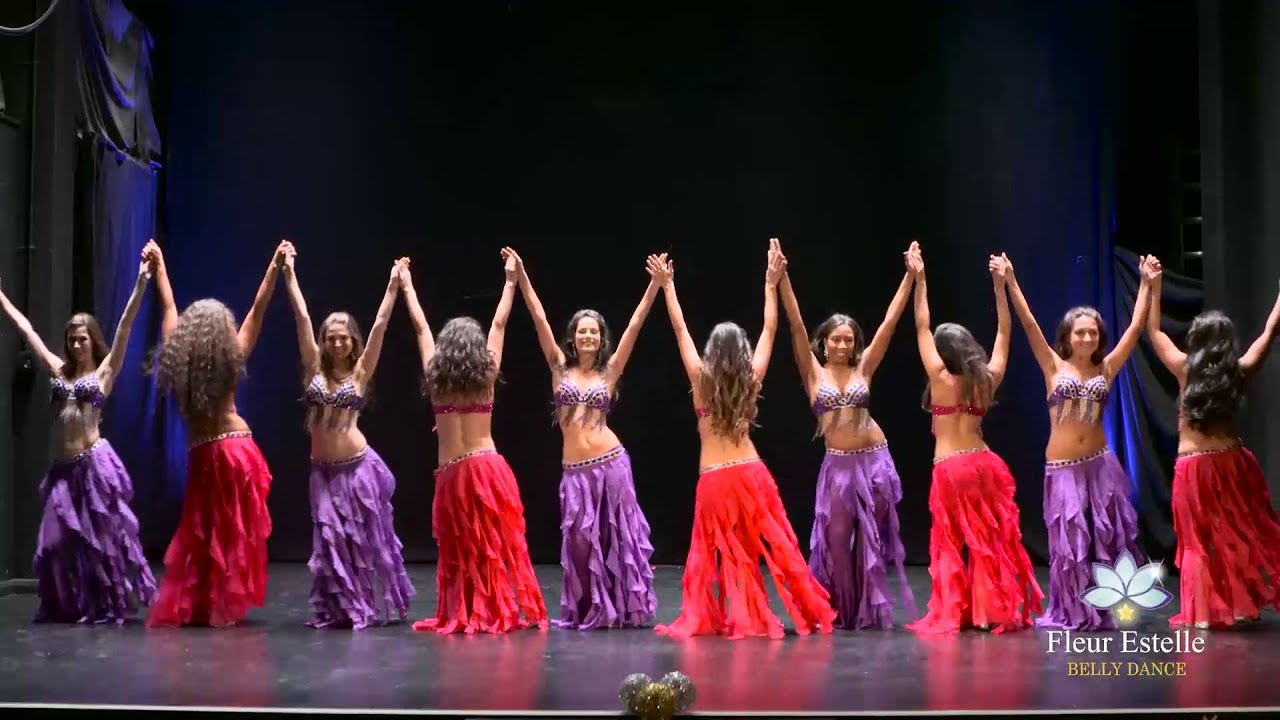 """belly Rendez-vous"" Drum Solo Belly Dance Fleur Estelle Company"