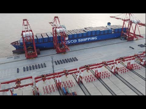 World's Biggest Automated Cargo Wharf Yangshan Deep-water Port Starts Operation in Shanghai