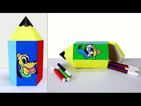 Crafts For Kids How To Make A Cute Pencil Shaped Box Fun Crafts