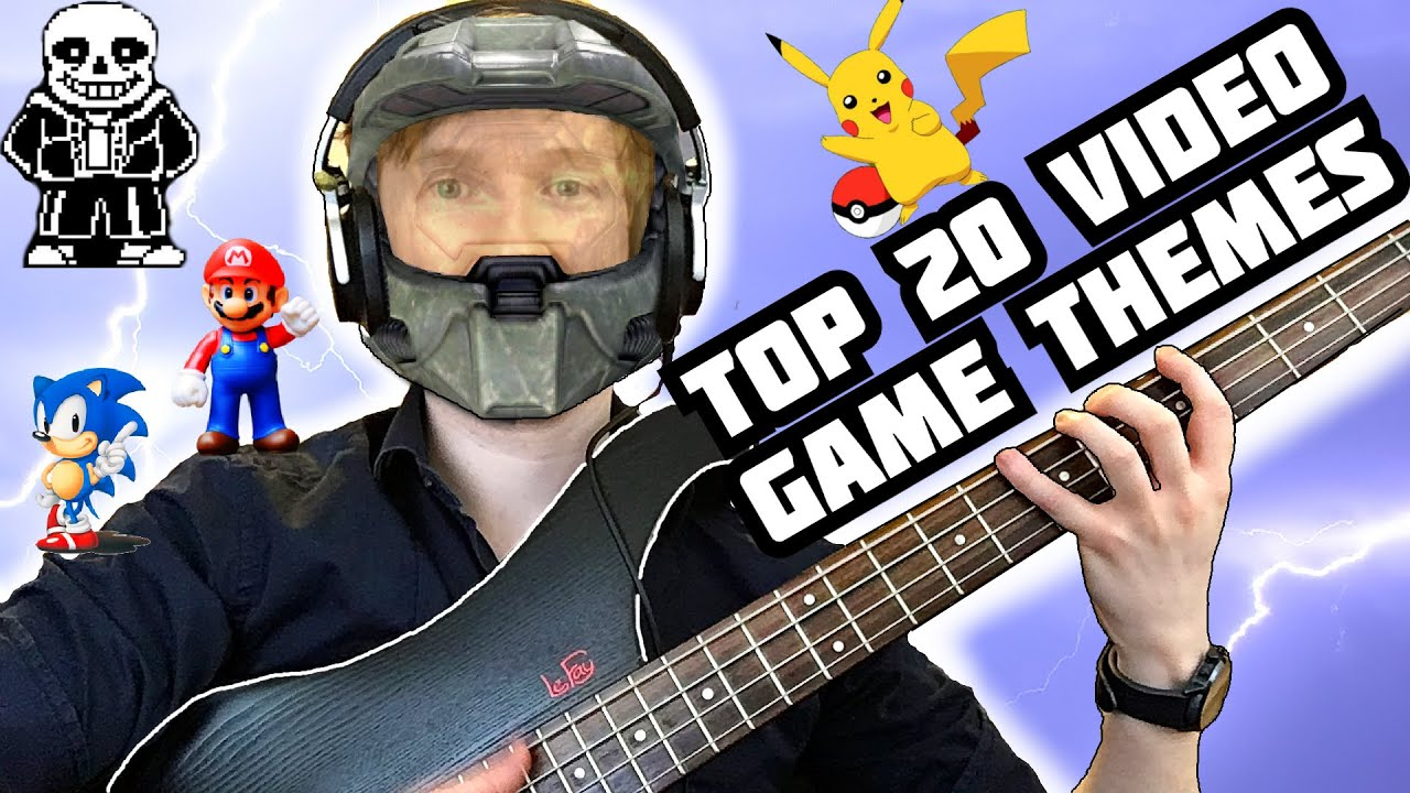 TOP 20 VIDEO GAME THEMES (BASS SOLO) - YouTube