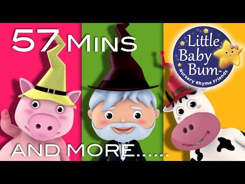 There Was A Crooked Man | Plus Lots More Nursery Rhymes | 57 Minutes Compilation from LittleBabyBum!