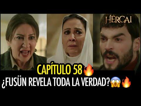 Hercai 3 - CAPÍTULO 58🔥 ¿FUSÜN REVELA TODA LA VERDAD A HAZAR Y MIRAN DELANTE DE AZIZE?😱😱