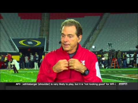 Nick Saban's SportsCenter interview after winning his 5th national title.