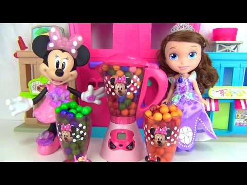 Disney Jr. Minnie Mouse Smoothie Magical Blender Princess Sofia The First, Gumball Toy Surprise TUYC