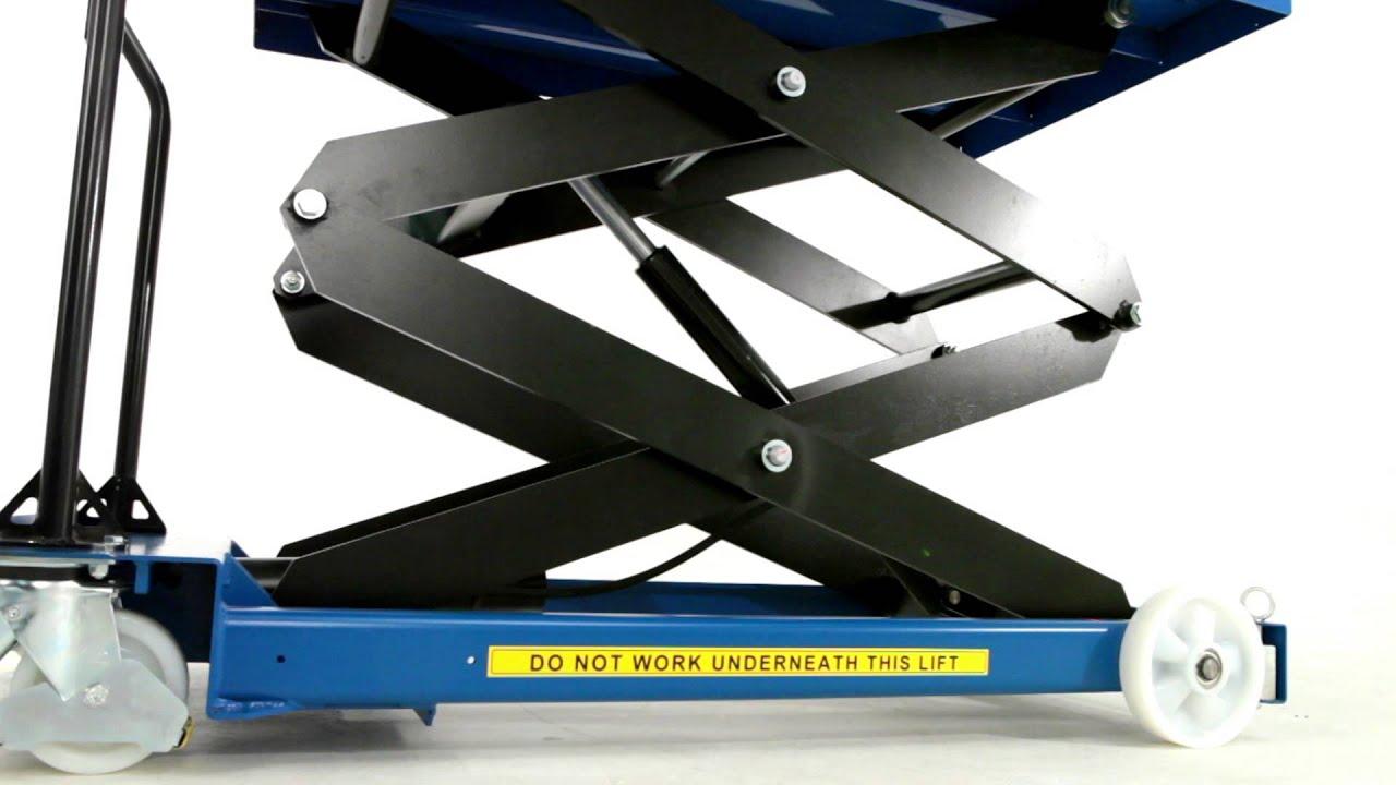 Bigdug Heavy Duty Double Scissor Lift Table Product Video