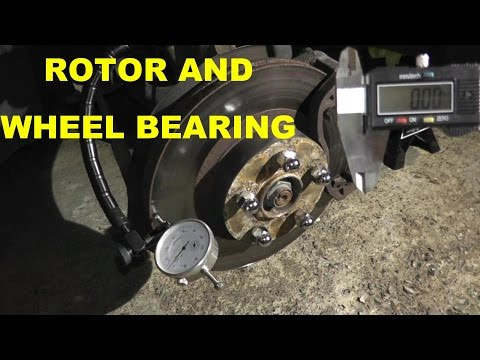 How to Test Brake Rotors and Wheel Bearings at Home