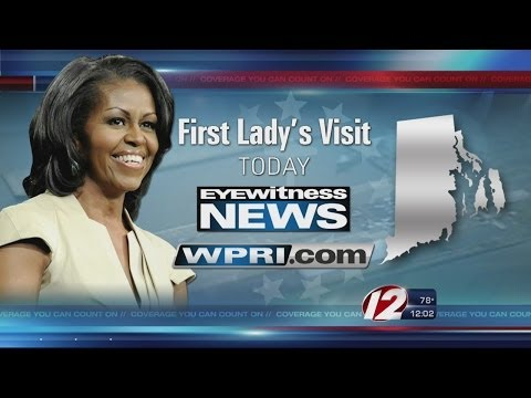 First Lady visits Rhode Island
