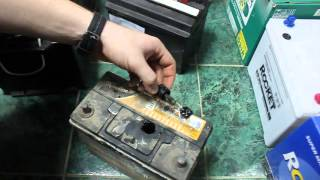 Проверка электролита в АКБ без пробок