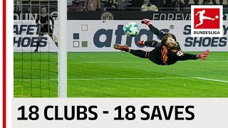 18 Clubs, 18 Saves - The Best Save By Every Bundesliga Team in 2017/18 so far