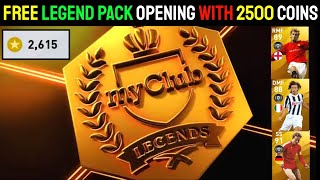 Got Free 8 Legends | FREE LEGENDS PACK OPENING PES 2020 MOBILE | 2500+ Clubcoins #Roadto100k