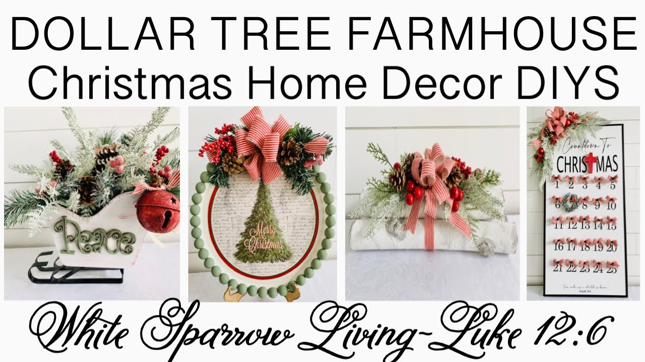 🎄 HIGH END DOLLAR TREE FARMHOUSE CHRISTMAS HOME DECOR DIYS