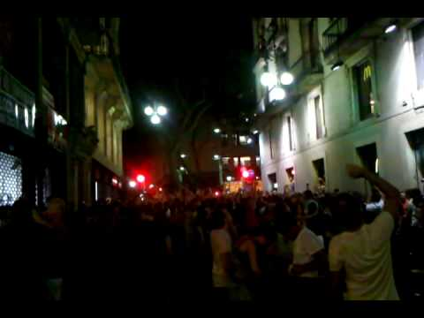 Barcelona after Spanish victory over Germany 1