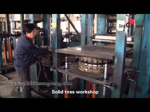 ☆solid Tyre Production Process☆ Sen Guang Rubber Products