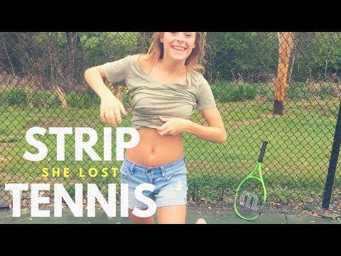 STRIP TENNIS *SHE LOST*