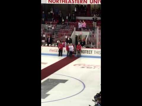 Rising Northeastern University Star kicks off a big win at Matthews Arena