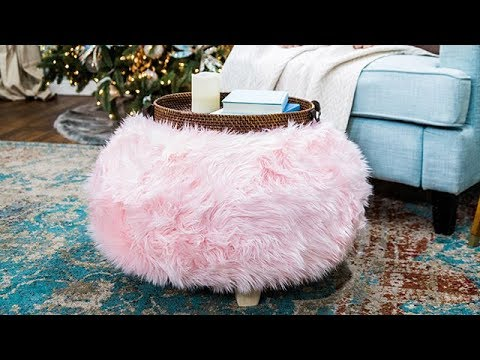 DIY Fuzzy Ottoman - Home & Family