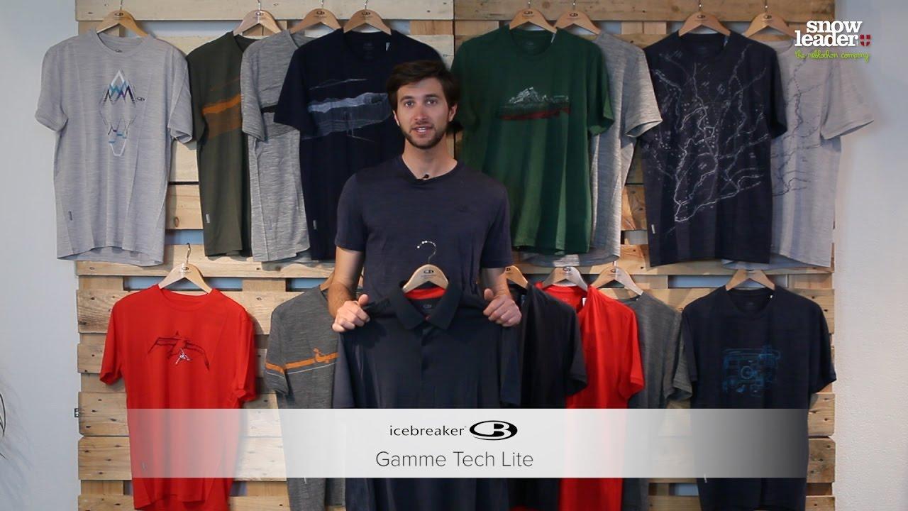 Icebreaker Mens Tech Lite SS V Tshirt Homme