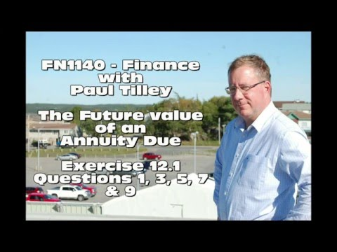 FN1140 - Calculate the Future Value of an Annuities Due - 12.1 Example Problems