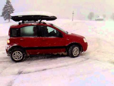 Fiat panda 4x4 vs snow youtube for Panda 4x4 youtube