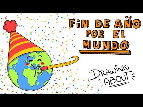 FIN DE AÑO POR EL MUNDO 🌏🌎🌍 | Draw My Life Año Nuevo Navidad