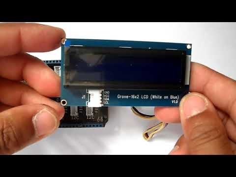 Arduino With Grove LCD 16x2 White On Blue