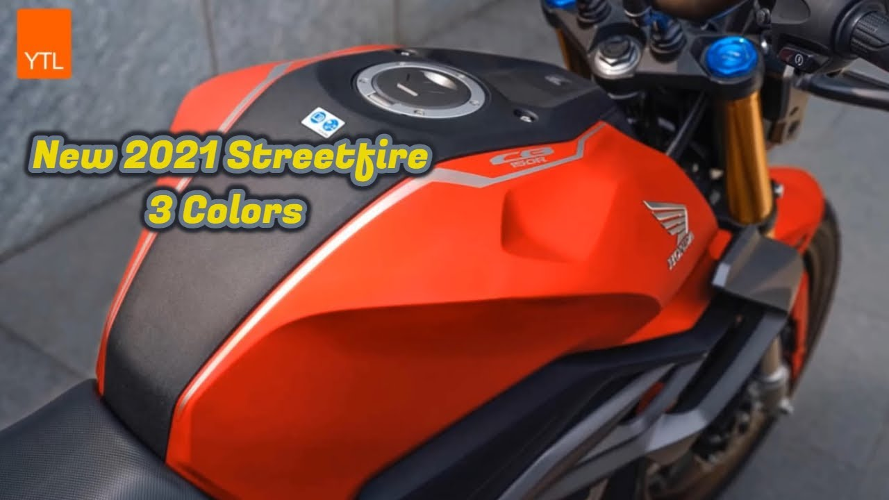 2021 Honda Streetfire All Color Review 🔥 Streetfire Standard and Special Edition