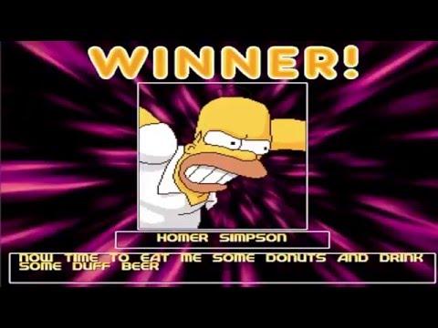 YB MUGEN Arcade #3 - Homer Simpson playthrough
