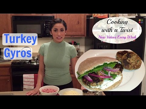 Greek Turkey Burgers - Ground Turkey Gyros - How to make Turkey Burgers/Gyros