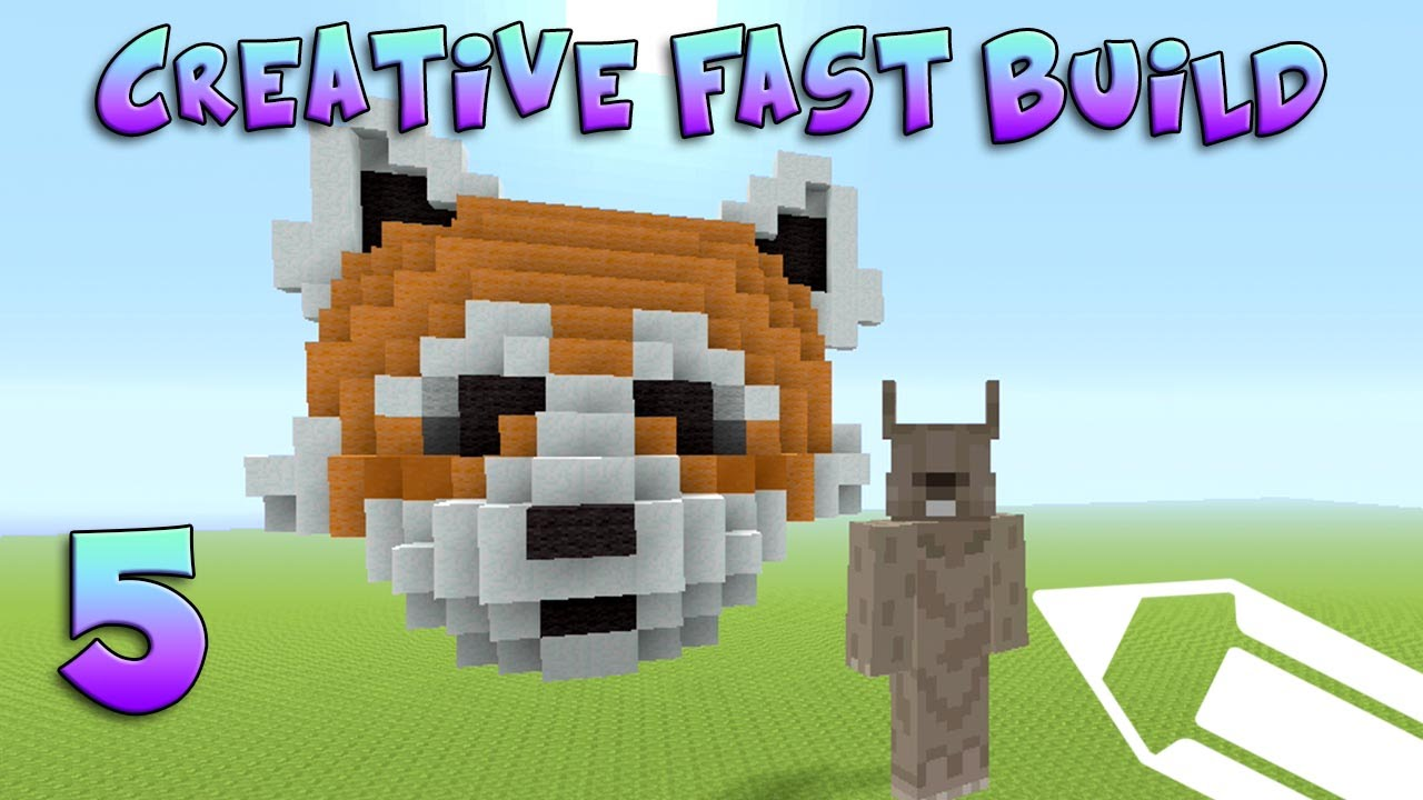 Minecraft Xbox Creative Fast Build Red Panda 5 Youtube