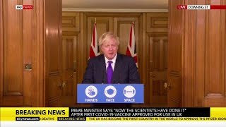 Watch in full: Boris Johnson holds coronavirus news conference on vaccine rollout