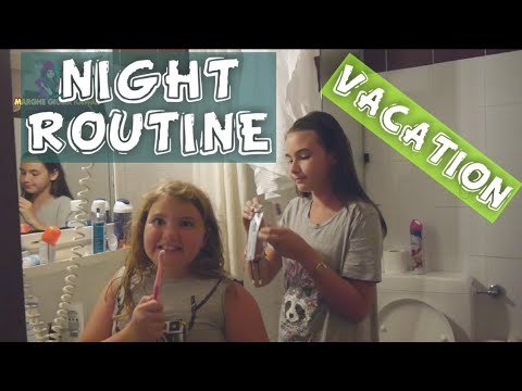NIGHT ROUTINE IN VACANZA 2018  by Marghe Giulia Kawaii