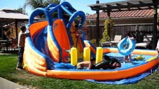 Banzai Wave Breaker Water Park / Water Slide - Summer Fun 2010