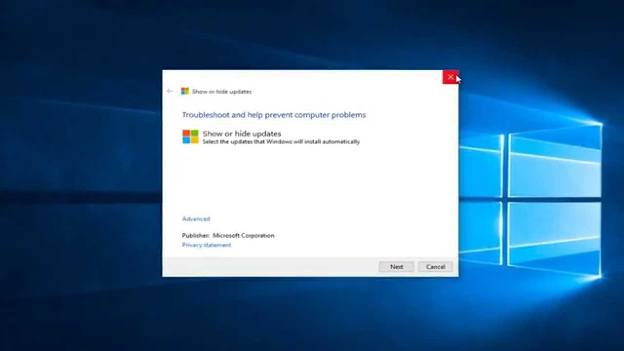 How To Show/Hide Specific Updates In Windows 10 - YouTube