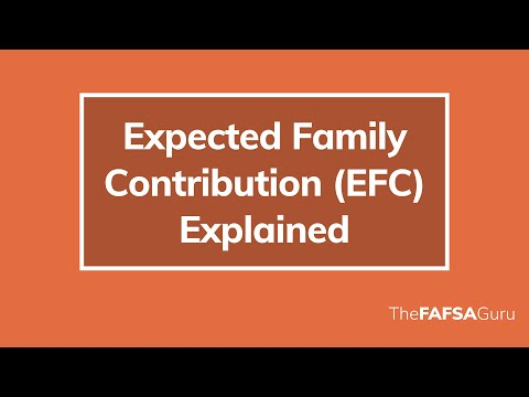 what-does-the-efc-(expected-family-contribution)-mean?
