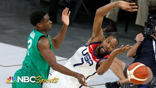 Nigeria stuns Team USA men's basketball in first pre-Olympic exhibition game
