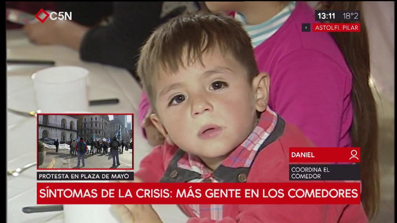Síntomas de la Argentina de hoy: más gente en los comedores