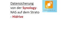 HiDrive-Backup von Synology NAS mit der Strato App durchführen - Tipps und Hinweise